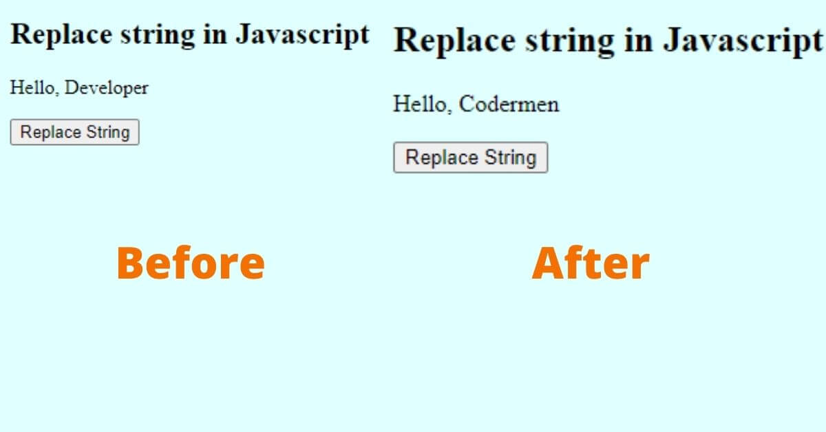 How To Replace String in Javascript